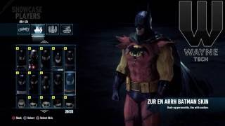 Batman Arkham Knight All Skins!