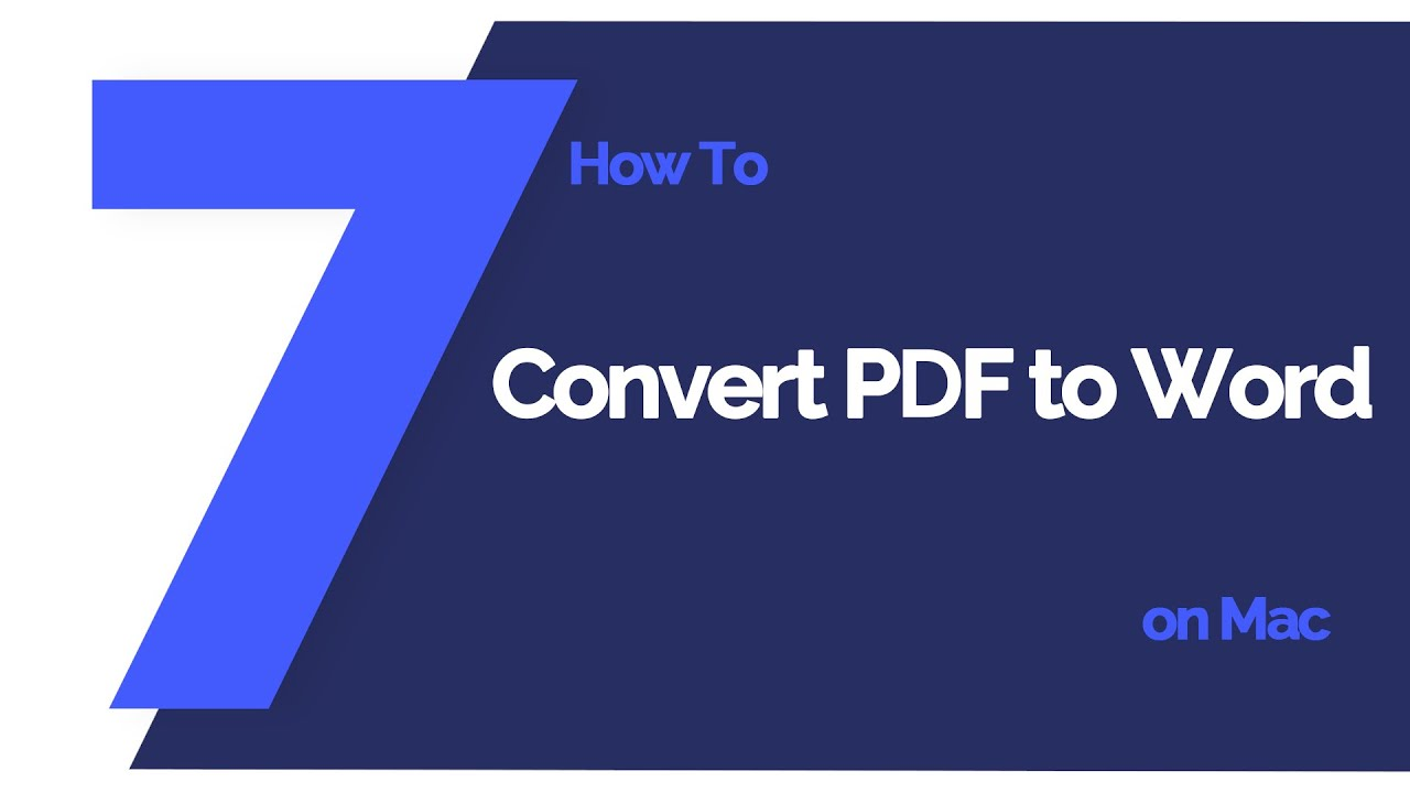 How to Convert PDF to Word on Mac (Mojave 10 14 included)