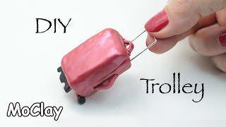 DIY Dollhouse - How to make a mini travel trolley