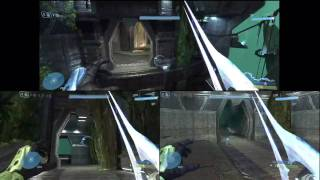 Halo 3 Splitscreen Multiplayer Gameplay in HD