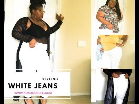 Plus Size Fashion  How To Style White Denim