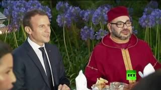 ماكرون وزوجته يتناولان الإفطار مع العاهل المغربي