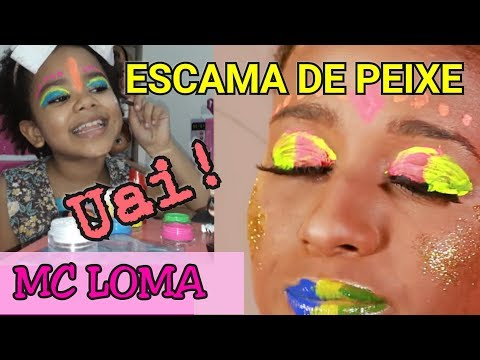 Maquiagem néon da MC Loma- MC Loma e as gêmeas Lacração