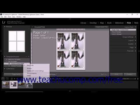 Lightroom Classic Cc Tutorial Saving Custom Print Templates Adobe Training