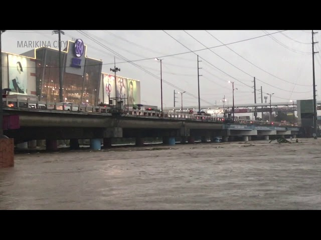Marikina River water level continues to rise