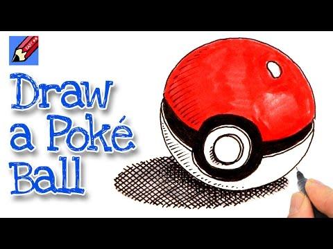 How to draw a Poké Ball - Pokemon