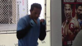 BENSON HENDERSON - **COMPLETE** OFFICIAL MEDIA WORKOUT AHEAD OF HIS FIGHT IN HONDA CENTRE, ANAHEIM