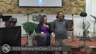 Guest Speakers: Bill & Bethany McClure | 2-14-21