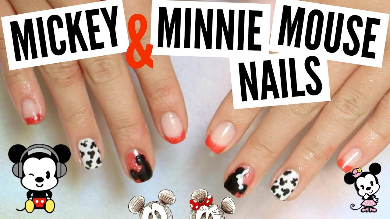DIY Gel Color Changing Mickey / Minnie Mouse Nails Tutorial ...