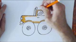Draw a Monster Truck