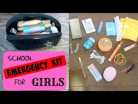 Diy Emergency School Kit For Girls Back To School Youtube