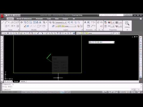 Comparison of different ways to change the length of a line in Autocad