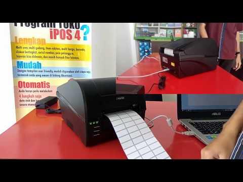Set Up Pertama Kali dan Menggunakan Printer Barcode Postek C168