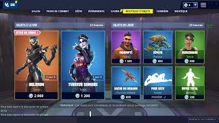 BOUTIQUE FORTNITE DU 8 JANVIER - 9 JANVIER ! ITEM SHOP 8 JANUARY - 9 JANUARY 2019 !