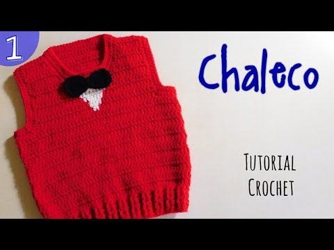 Como tejer un chaleco para niño (1 2) - YouTube fdb41e692d08