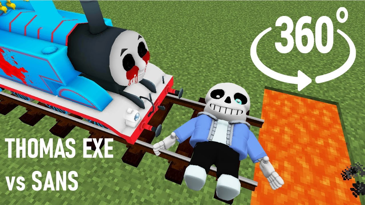 Real SANS vs THOMAS EXE in Minecraft 360°