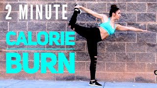 2 Minute Workout - Work Legs and Burn Fat ALL DAY!