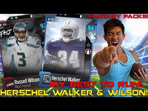 HERSCHEL WALKER & RUSSELL WILSON ARE UNSTOPPABLE! AMAZING TD RUN! Madden 18 Ultimate Team