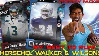 HERSCHEL WALKER & RUSSELL WILSON ARE UNSTOPPABLE! AMAZING TD RUN! Madden 18 Ultimate Team