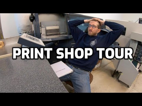 Lazy Millennial Digital Print Shop Tour, Starting Book Magazine Printing Binding Publishing Business