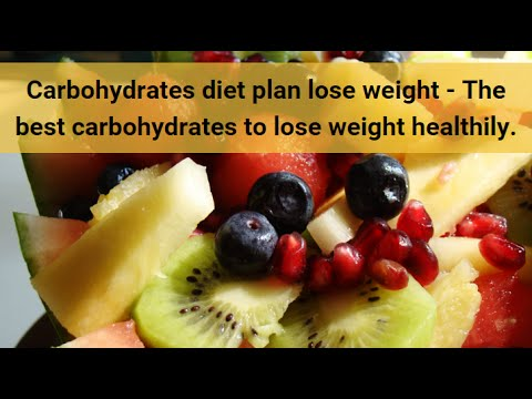 Carbohydrates diet plan lose weight
