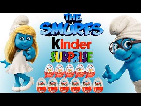 Видео, 11 Киндер сюрприз Смурфики 2  джой коллекция 2013 2014