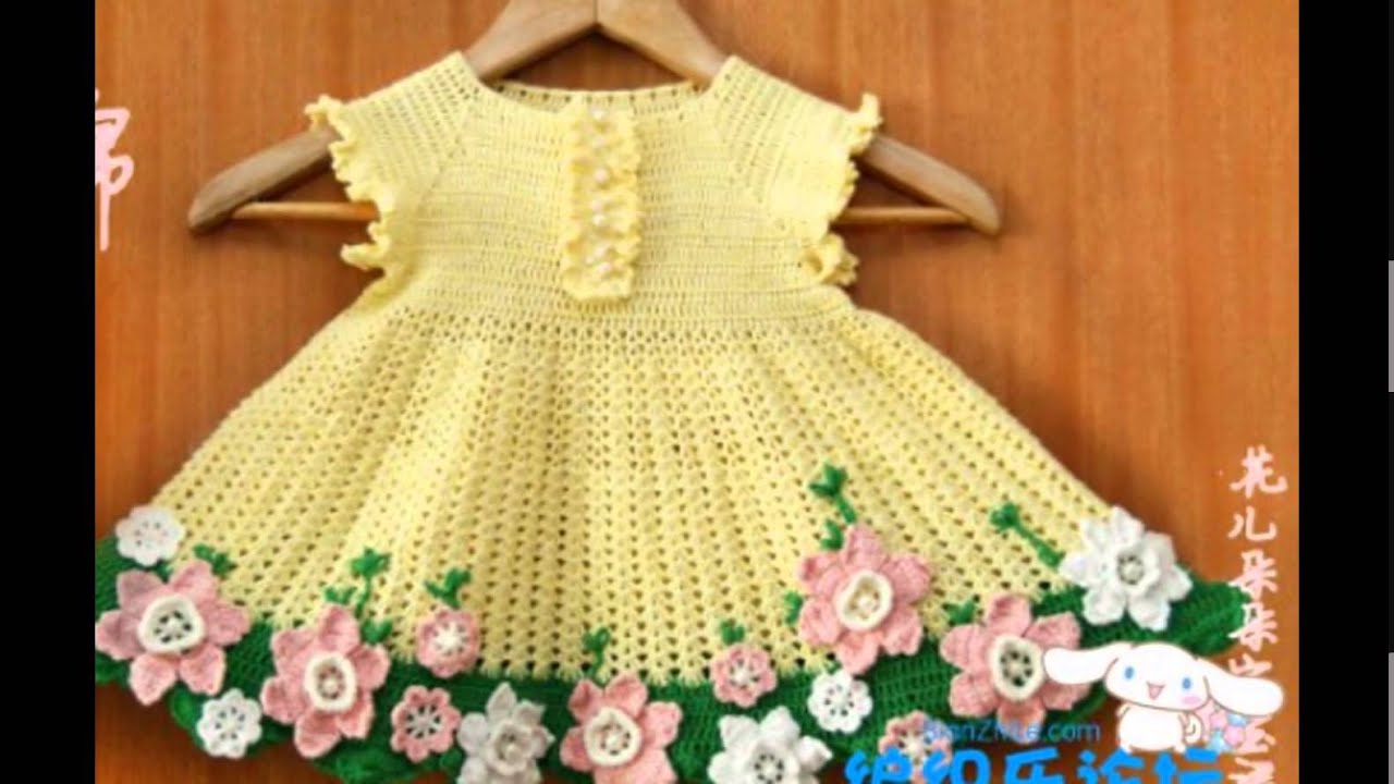 Crochet Patterns| for #free |Crochet Baby Dress| 536 - YouTube