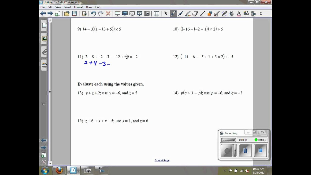 Review of Algebraic and Numerical Expressions Kuta Software  free worksheets, alphabet worksheets, learning, and worksheets for teachers Algebraic Expressions Worksheets Pdf 2 768 x 1024