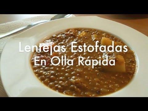 Como hacer lentejas en olla express recetas f ciles - Como cocer garbanzos en olla express ...