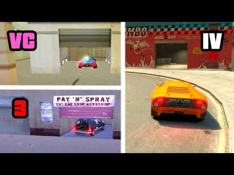 PAY 'n' SPRAY In GTA Games Over The YEARS (Evolution)