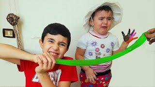 Celina And Hasouna Make Slime - سيلينا تصنع سلايم للاطفال