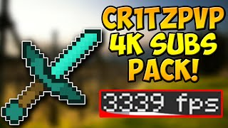 Minecraft PvP Texture Pack   Cr1tzPvP 4k Subs Edit Resource Pack FPS BOOST NO LAG 1.10 1.9 1.8 1.7