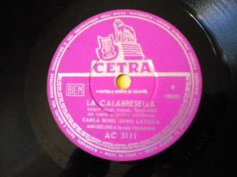 Carla Boni e Gino Latilla - La Calabresella (1956)