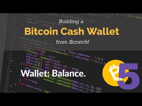 Bitcoin Cash Wallet Coding Tutorial: Balance. (Part 5)