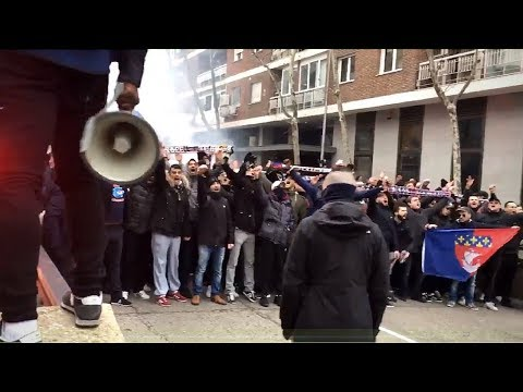 Ultras Paris in Madrid 14.02.2018   Real Madrid - PSG