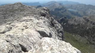 Walking in Tramutana Mountains in Mallorca