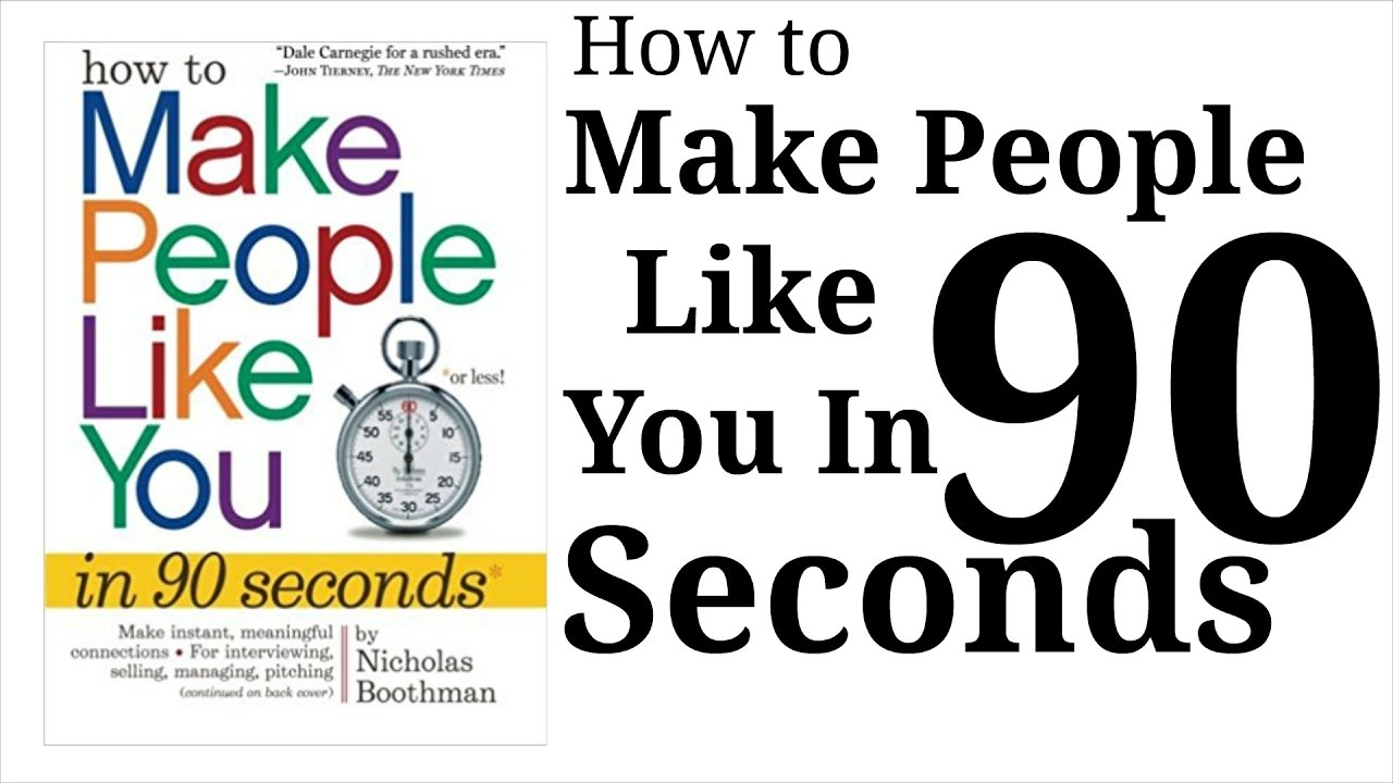 how to make people like you How to make people like you in 90 seconds or less 42 out of 5 based on 0 ratings 13 reviews.