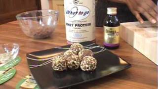 Peanut Butter & Chocolate Power Balls  With Whey Protein Powder