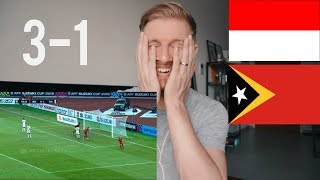 INDONESIA VS TIMOR LESTE (AFF) 3 - 1  AFF SUZUKI CUP// INDONESIAN FOOTBALL REACTION