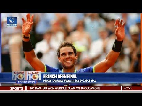 News@10: Nadal Defeats Wawrinka In French Open Final 11/06/17 Pt 4