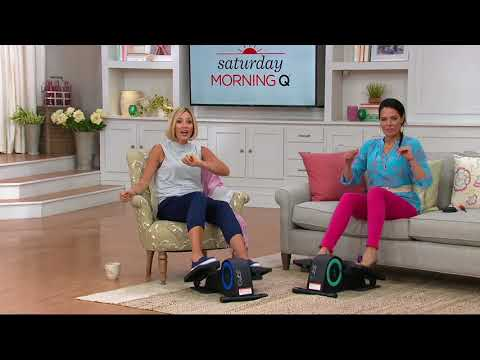 Cubii Jr. Compact Under Desk Elliptical With Display Monitor On QVC