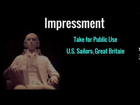 Early Presidential Administrations  Madison Administration  Slide 06 Impressment