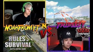 Tripeezy vs Noah in custom matches..