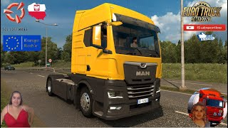 "Euro Truck Simulator 2 (1.38 Open Beta)   MAN TGX 2020 v0.5 by HBB Store with Real Interior and Tuning First Look Krakow Poland Revisiting v1.38 FMOD ON and Open Windows Europe Reskin v1.0 by Mirfi Naturalux Graphics and Weather Test Gameplay ITA + DLC's & Mods  SCS Software News Iberian Peninsula Spain and Portugal Map DLC Planner...2020 https://www.youtube.com/watch?v=NtKeP0c8W5s Euro Truck Simulator 2 Iveco S-Way 2020 https://www.youtube.com/watch?v=980Xdbz-cms&t=56s  #TruckAtHome #covid19italia Euro Truck Simulator 2    Road to the Black Sea (DLC)    Beyond the Baltic Sea (DLC)   Vive la France (DLC)    Scandinavia (DLC)    Bella Italia (DLC)   Special Transport (DLC)   Cargo Bundle (DLC)   Vive la France (DLC)    Bella Italia (DLC)    Baltic Sea (DLC)   American Truck Simulator New Mexico (DLC) Oregon (DLC) Washington (DLC) Utah (DLC)     I love you my friends Sexy truck driver test and gameplay ITA  Support me please thanks Support me economically at the mail vanelli.isabella@gmail.com  Roadhunter Trailers Heavy Cargo  http://roadhunter-z3d.de.tl/ SCS Software Merchandise E-Shop https://eshop.scssoft.com/  Euro Truck Simulator 2 http://store.steampowered.com/app/227... SCS software blog  http://blog.scssoft.com/  Specifiche hardware del mio PC: Intel I5 6600k 3,5ghz Dissipatore Cooler Master RR-TX3E  32GB DDR4 Memoria Kingston hyperX Fury MSI gtx 970 Twin Frozr Gaming 4gb ddr5 Asus Maximus VIII Ranger Gaming Cooler master Gx750 SanDisk SSD PLUS 240GB  HDD WD Blue 3.5"" 64mb SATA III 1TB Corsair Mid Tower Atx Carbide Spec-03 Xbox 360 Controller Windows 10 pro 64bit"