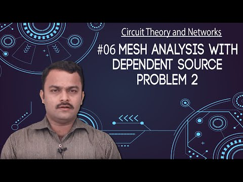 Mesh Analysis with Dependent Sources - Problem 2