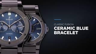 Hublot - classic fusion ceramic blue bracelet