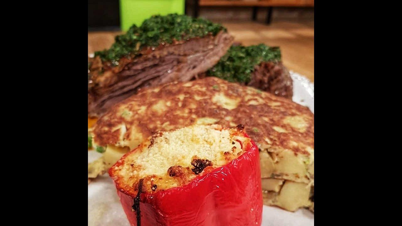 Receta de hoy: Vacío con chimichurri y tortilla de papa