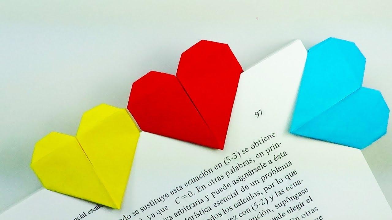 Marcap ginas coraz n origami youtube - Como hacer un corazon con fotos ...