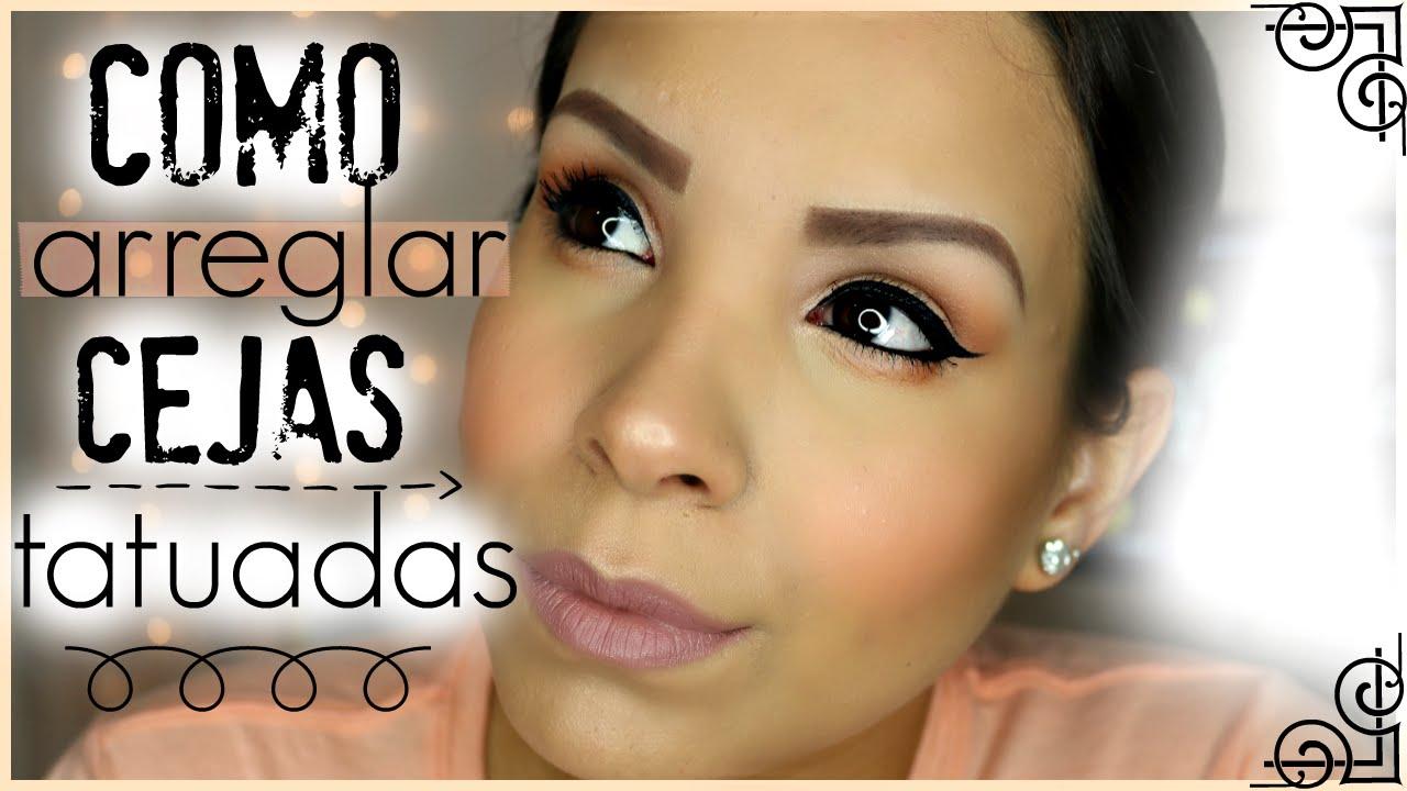 maquillar cejas con canas