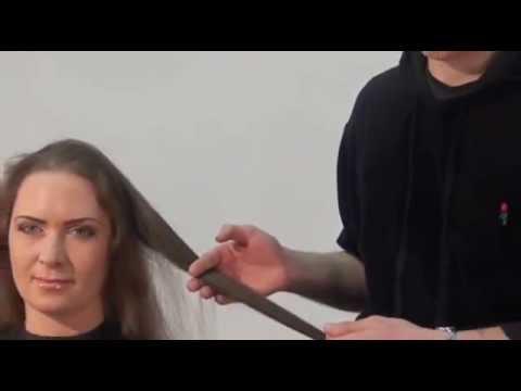 Симпатичные стрижки с косой челкой на разную длину волос
